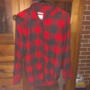 AE flannel red/black